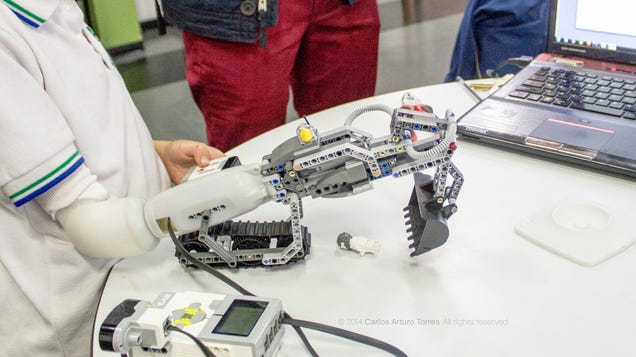 A Lego-Friendly Prosthetic Arm Lets Kids Build Their Own Attachments