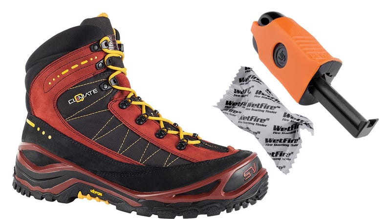 Feet Of Flames: These Survival Boots Include a Built-In Fire Starting Kit