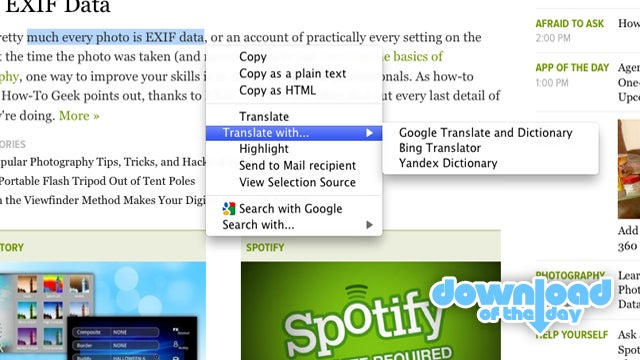 SelectionSK Adds Search and Translations to Highlighted Text in Firefox