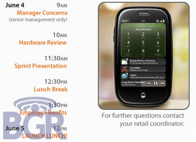 "Palm ""Launch Lunch"" Memo Hints at Early June Pre Release"