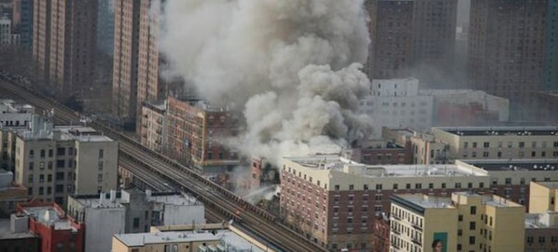 Is There a Drone Flying Around the Harlem Building Collapse? (Updated)