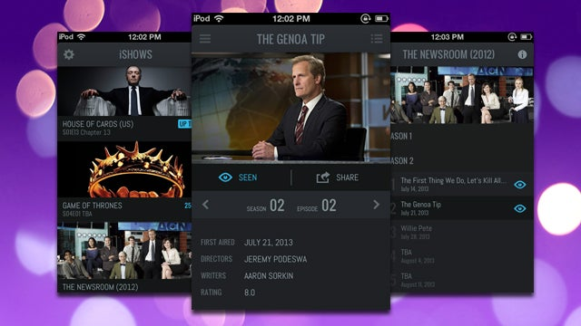 iShows Keeps Track of TV Shows You've Watched