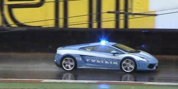 Lamborghini Gallardo LP560-4 Police Car Patrols Monza