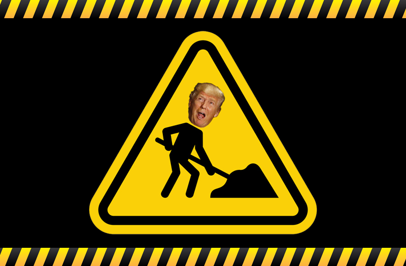 Please Be Patient, Donald Trump's Damning Anti-Clinton Page Is Under Construction