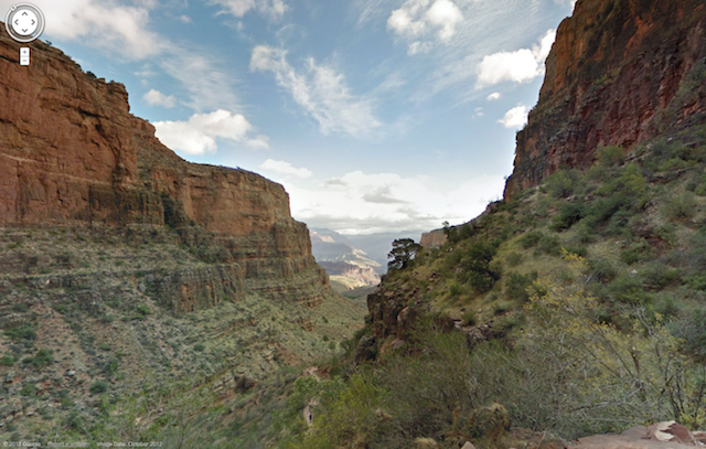 Wow. So Google Street View is now available for the Grand Canyon.