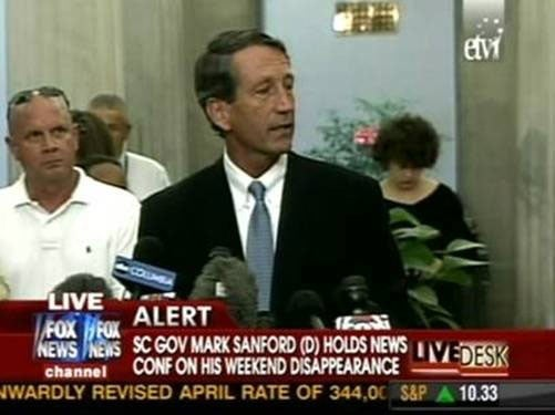 Sanford Confesses to Argentinian Affair