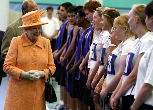 Young Athletes Pass The Queen's Inspection
