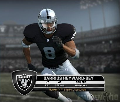 Raider Receiver's Madden Rating Is Sucking Wind, Too