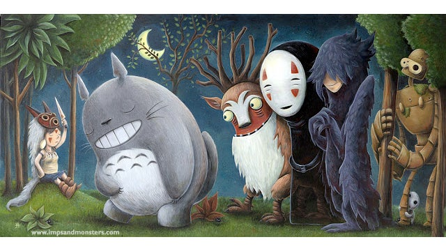 Princess Mononoke and Miyazaki's monsters are where the Wild Things are