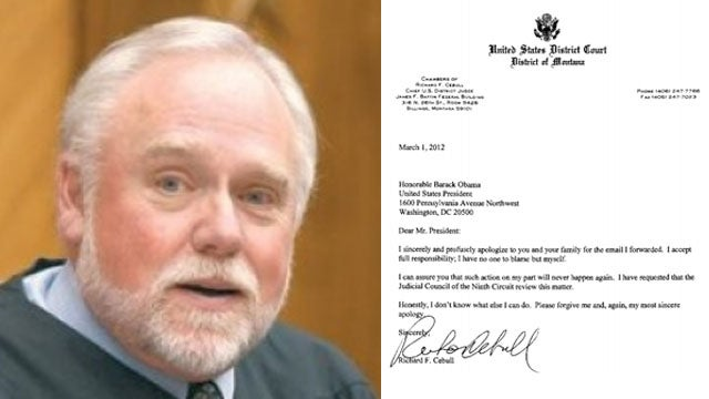 Sorry I Said Your Mom Had Sex with a Dog, Judge Writes in Letter to Obama