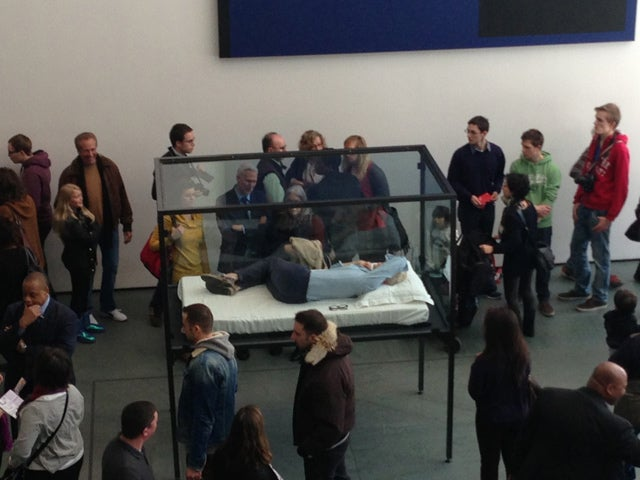 Tilda Swinton is Currently Sleeping in a Box at MoMA