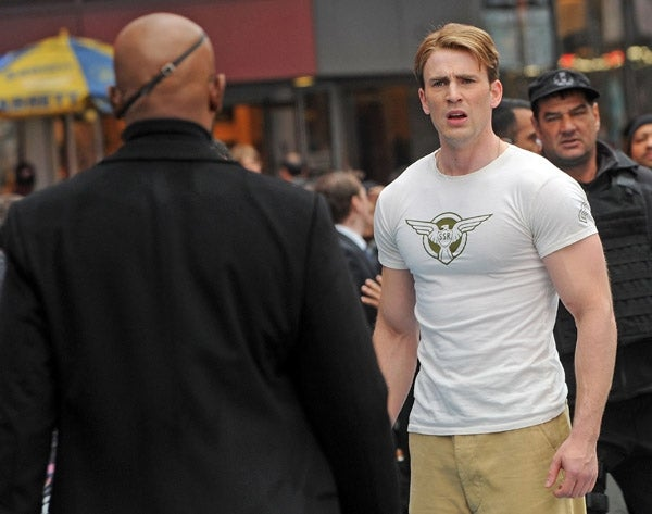 Captain America Set Pictures