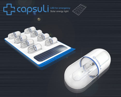 Capsuli Emergency Solar-Charged LED Lights in a Pass-Around Pack