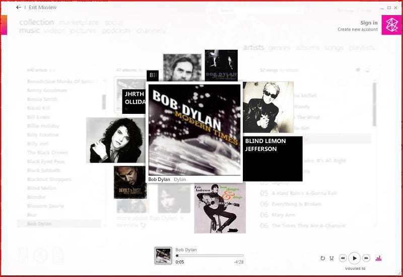 Microsoft Beats Apple's iTunes Genius with MixView