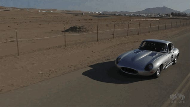 This Jaguar E-Type Gets Faster As People Get Slower