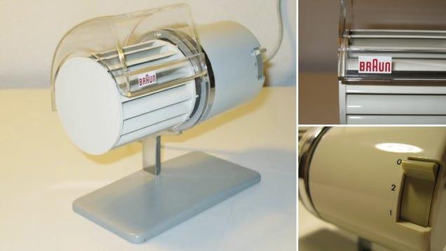 This Classic Braun Desktop Fan Makes Your Sweat Look Stylish