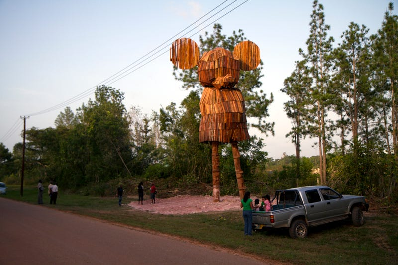 In Suriname, you can visit the Mickey Mouse wicker man