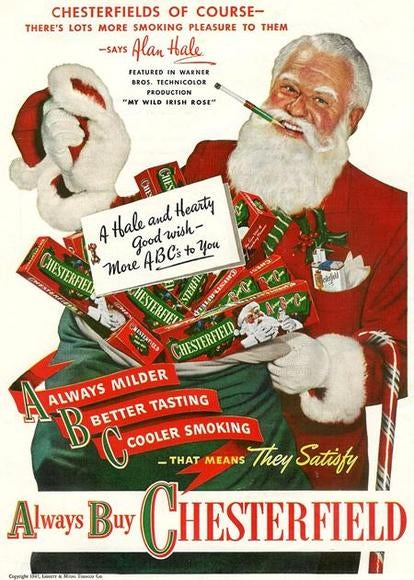 12 Santa-Endorsed Smoking Ads