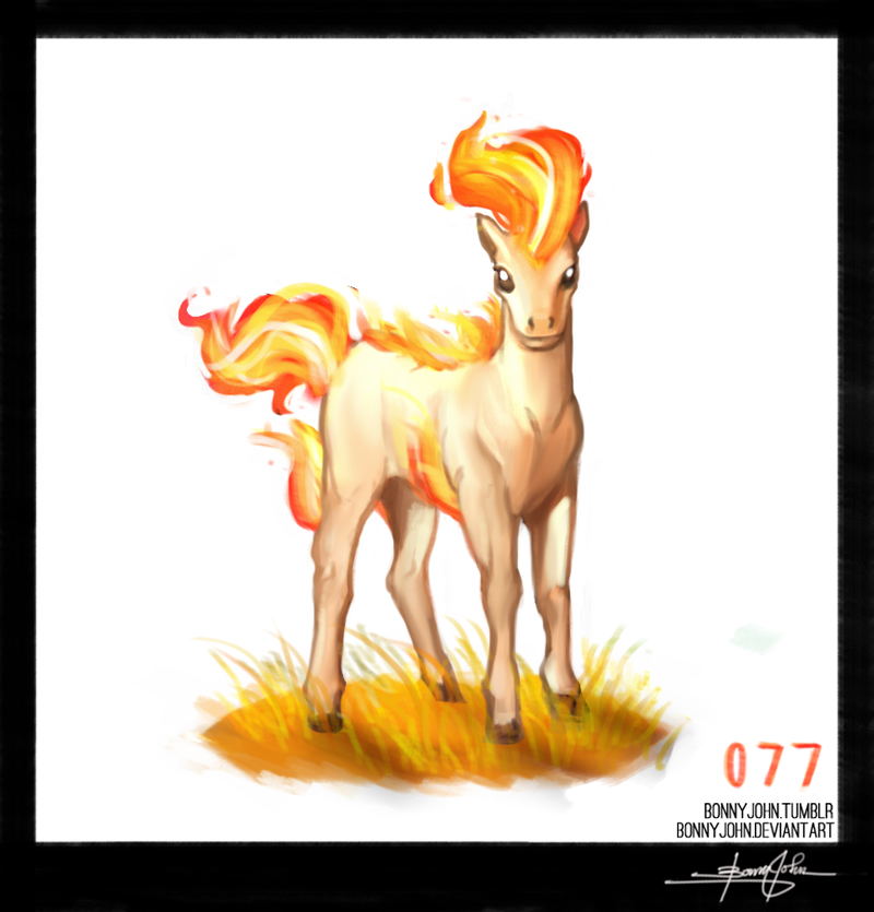 Pipin' hot Ponyta! Pokemon One a Day!