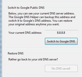 Google DNS Helper Offers No-Commitment Google DNS Try-Outs