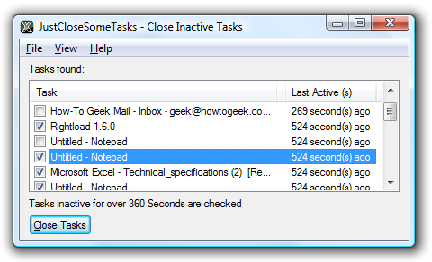 JustCloseSomeTasks Saves Memory by Closing Inactive Apps
