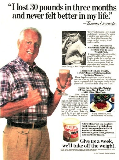 Mazda To Join Tommy LaSorda On Ultra Slim-Fast Diet