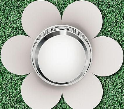 Teppan-Style Grill from Onfalos Brings Flower Power to the Yard