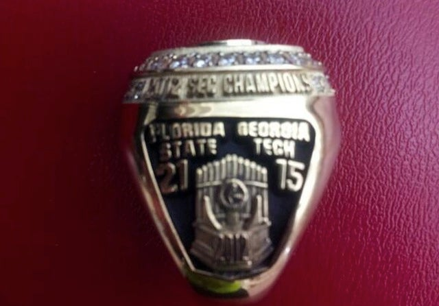 Former Florida State OT Just Got His 2012 SEC Championship Ring