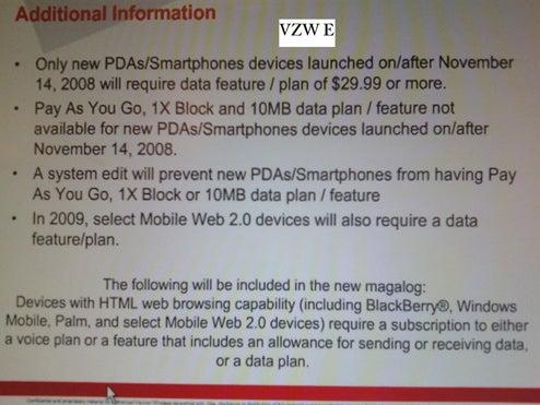 Verizon Forces $30 Minimum Data Plans on New Smartphones