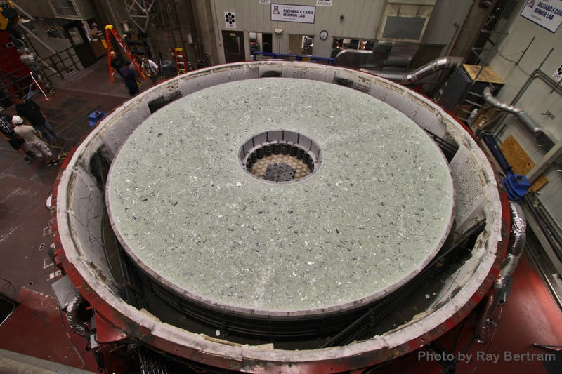 The Giant Magellan Telescope's Fourth Mirror Melting Is Mesmerising
