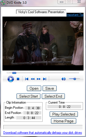 DVD Knife Quickly Extracts Any Clip from DVDs