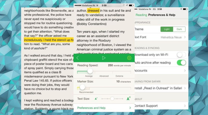 Outread Teaches Speed Reading with Pocket, Instapaper and Readability
