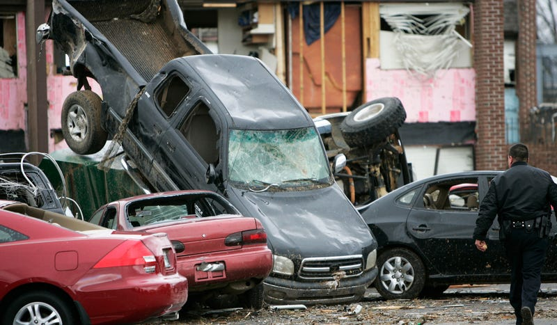 Man Somehow Survives Tornado While Staying In His Airborne Car