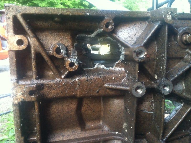 Engine carnage from Mt Washington