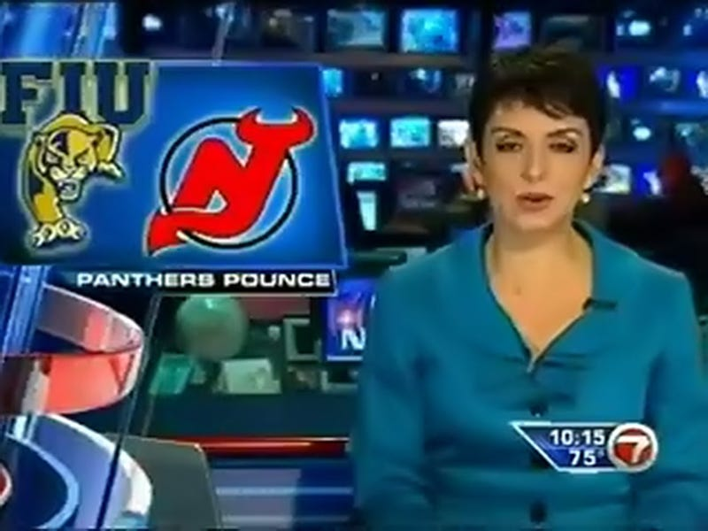 Miami TV Station Congratulates The Florida International University Panthers On Their Stanley Cup Playoff Win