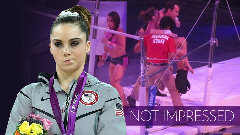 McKayla Maroney Injured at the Second Stop of a 40-City Tour, Possibly Because Organizers Skimped On Padding