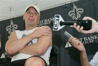 Kenny Chesney Practices with Saints; Undresses Injured Player; Hangs with Shockey