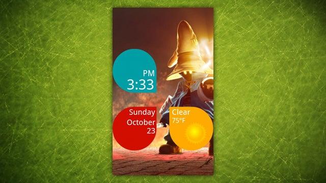 The Clock Petals Home Screen