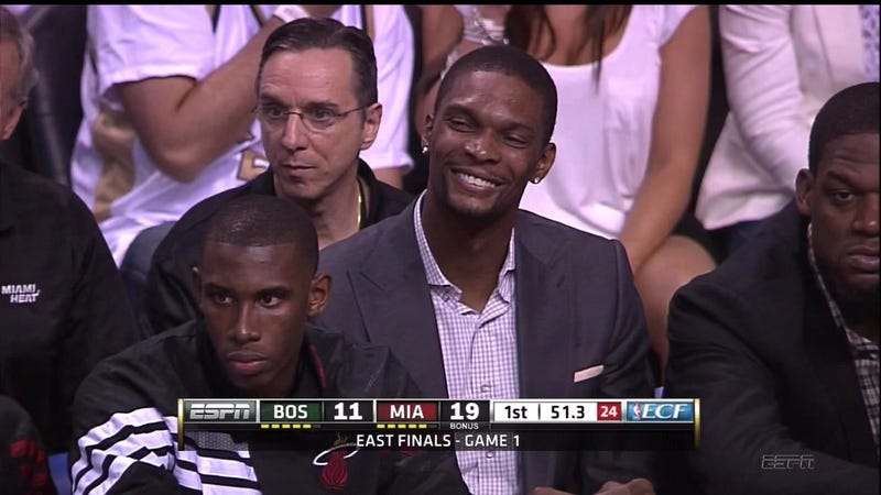 Chris Bosh Spent Last Night In His Own Little Place Of Bliss