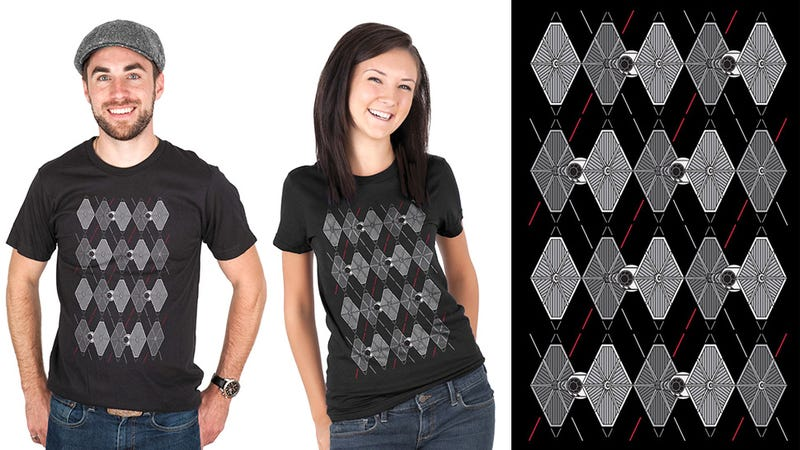 Sophisticated Star Wars Fans Dress in TIE Fighter Argyle