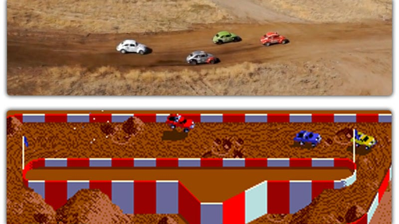Remote Camera Helicopters Give Races An NES Look