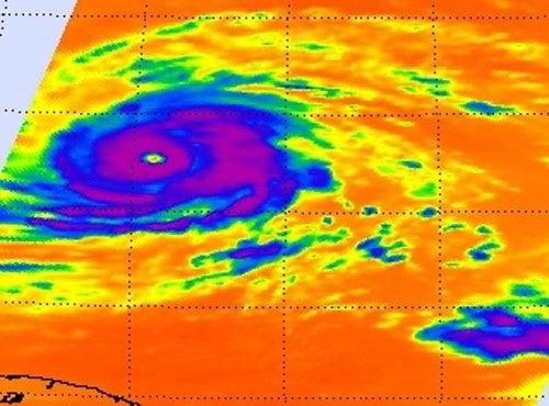 A look into the eye of massive hurricane Igor