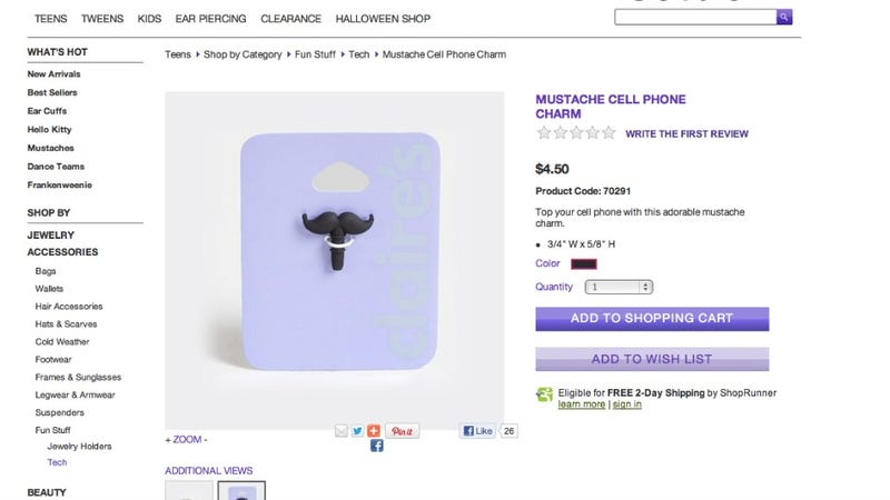 So Claire's Is Hawking A Pretty Phallic Cell Phone Charm