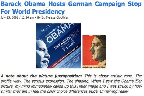 Didja Hear The One About How Obama Is Like Hitler?