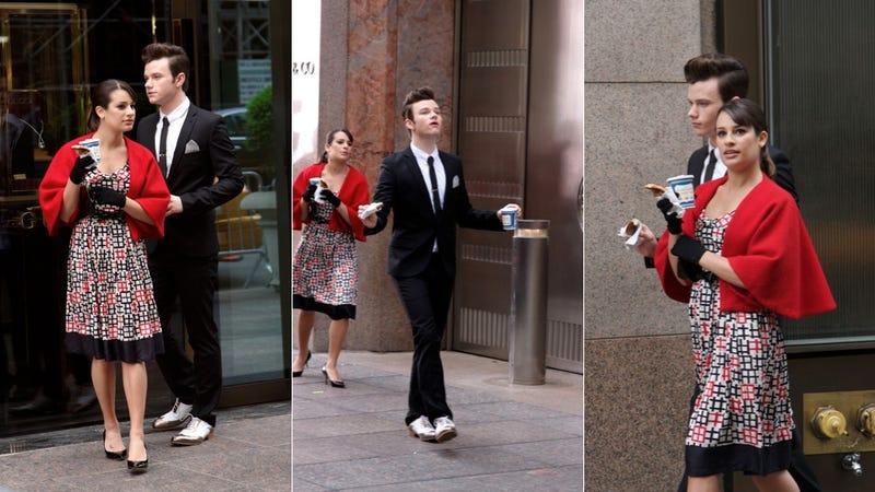 Rachel & Kurt From Glee Are Sleek In '60s Chic