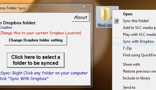 Dropbox Folder Sync Adds Any Folder to Dropbox with a Right-Click