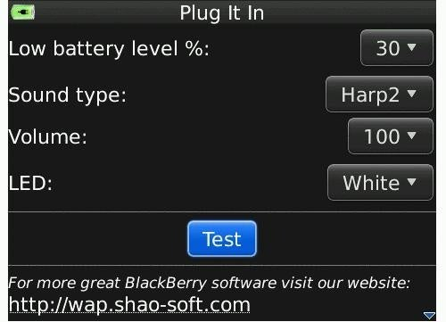 Plug It In App Fixes Blackberry Torch's Lack of Low Battery Indicator