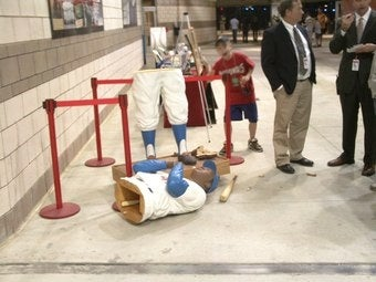 Jackie Robinson Statue At Nationals Park Busted Up By Tacklers
