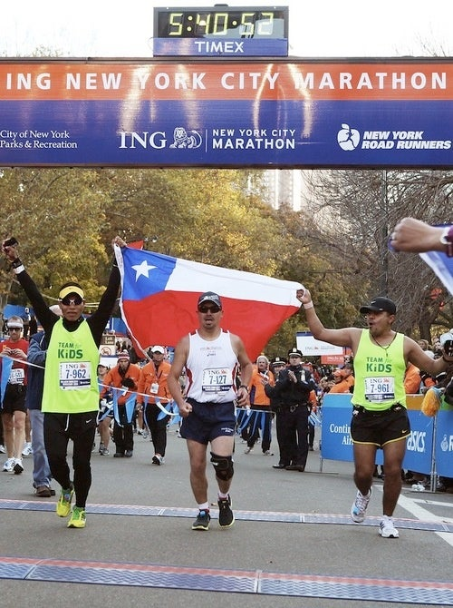 Chilean Miner Finishes New York City Marathon in Five Hours and 40 Minutes