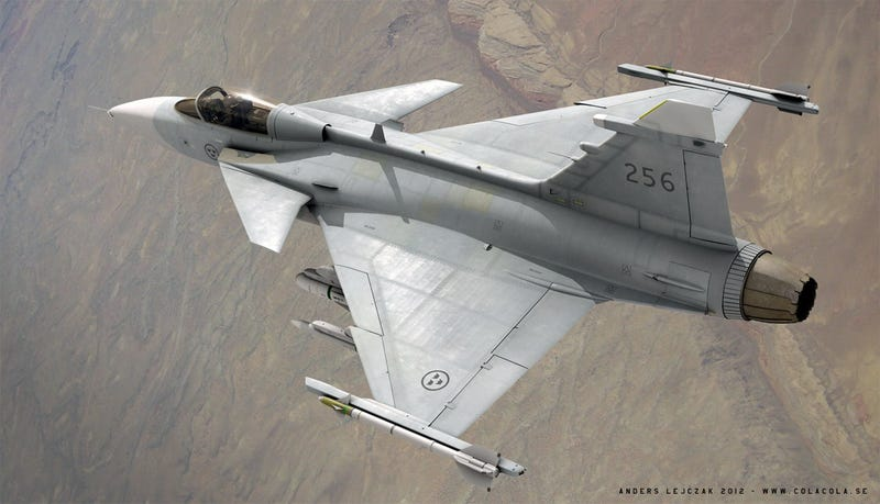 Incredibly realistic 3D renders of fighter planes
